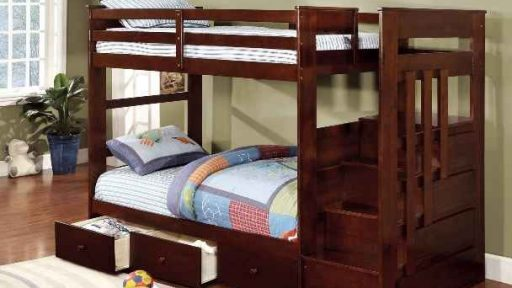"""""""Amber Abu"""" Espresso Twin over Twin Bunk Bed with Trundle – COMING IN MARCH!"""