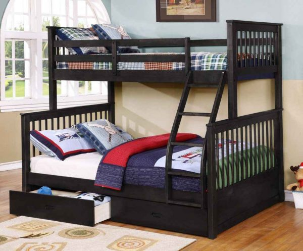 java Apollo Twin over Full Bunk Bed with Trundle- kidsroom.vip