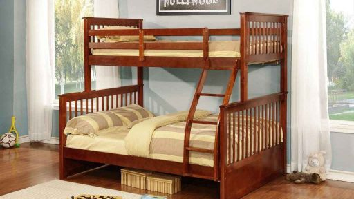 oak Apollo Twin over Full Bunk Bed with Trundle- kidsroom.vip