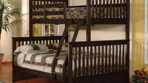 Apollo Twin over Full Bunk Bed with Trundle-walnut- kidsroom.vip