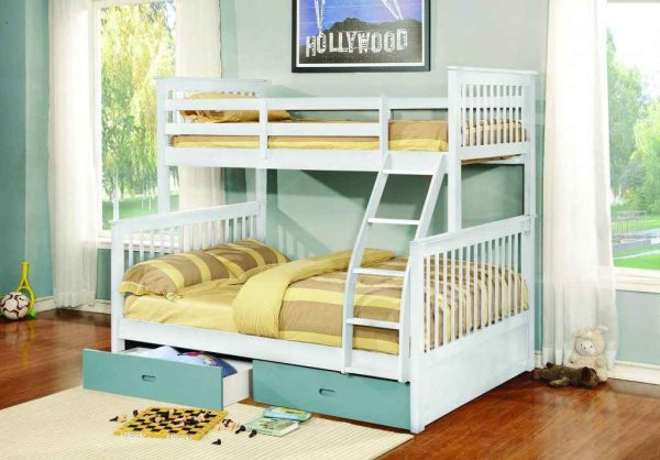 Apollo Twin over Full Bunk Bed with Trundle- kidsroom.vip