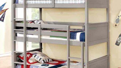 Twin 3 Tier Triple Bunk Bed- kidsroom.vip