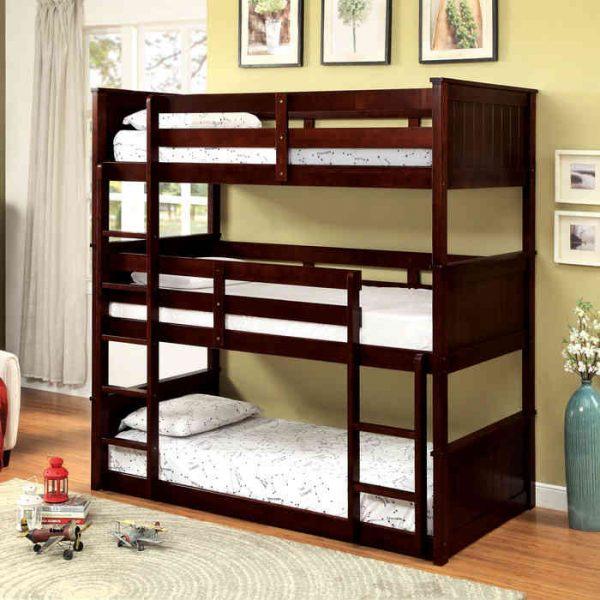 Twin 3 Tier Triple Bunk Bed - kidsroom.vip