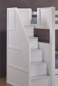Student Twin Loft Bed with Storage staircase- kidsroom.vip