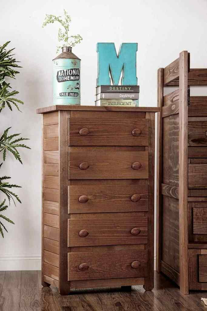 twin over Twin Bunk Bed with Staircase Storage-brown chest - kidsroom.vip
