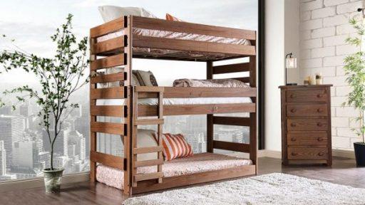 """Kensington Tractor"" Farmhouse Triple Decker Twin Bunk Bed"