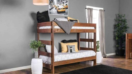 """Kensington Tractor"" Farmhouse Twin Over Twin Bunk Bed"