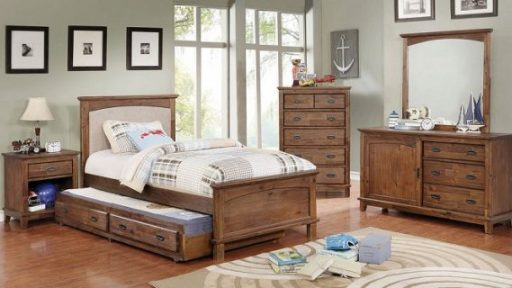 """""""Little Treasure"""" Bedroom Set w/ Padded Headboard & Trundle – COMING IN MARCH!"""