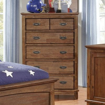 Padded Headboard Bedroom Set with trundle- chest- kidrsoom.vip