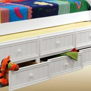Full Size Captains Bed with Storage Drawers- kidsroom.vip