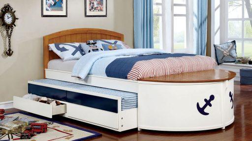 """Magic Sail"" Twin or Full Bed w/Storage"