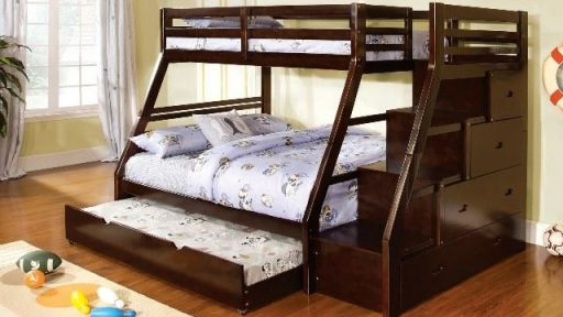 """""""Micah Macaw"""" Twin Full Bunk Bed Collection w/ Trundle"""