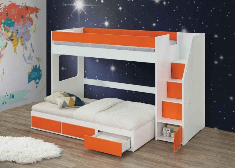 Bunk Bed With Trundle And Drawers- and loft bed- kidsrom.vip
