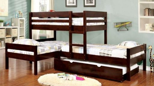 """Kids' Mission"" Espresso Triple Bunk Bed with Trundle – SOLD OUT, NO ETA"