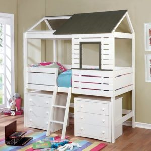 Twin House Bed With Storage-Kidsroom