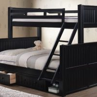 Twin XL over Queen Bunk Bed with Storage- kidsrooom.vip