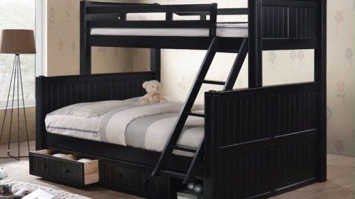 """""""Angel Phoenix"""" Twin XL Over Queen Bunk Bed w/ Storage – 5 Colors"""