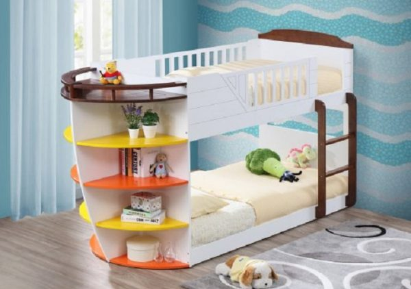 Poseidon Parrot Twin over Twin Bunk Bed - kidsroom.vip