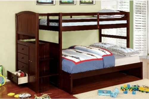 """Sami Seal"" Espresso Bunk Bed Twin over Full With Trundle – SOLD OUT, NO ETA"