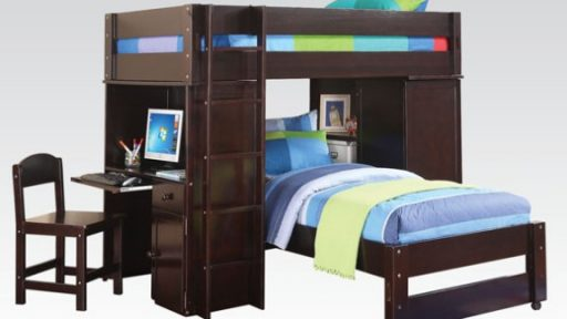 """Tom Sawyer"" Espresso Loft Twin Bed"