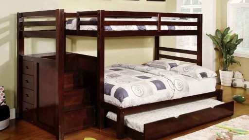 """""""Sunny Scooter"""" Espresso Twin over Full Bunk Bed – COMING IN MARCH!"""