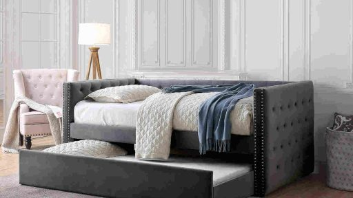 """""""Tuxedo Penguin"""" Daybed with Trundle – 3 Colors"""