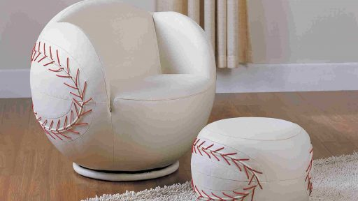 Baseball All Star Chair Set And Ottoman- KidsRoom.vip