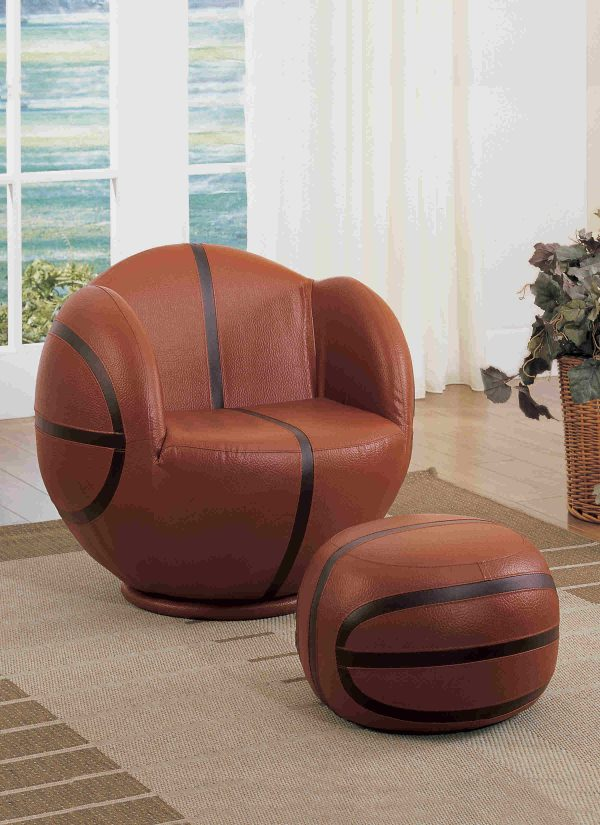 Basketball All Star Chair and Ottoman Set- kidsroom.vip
