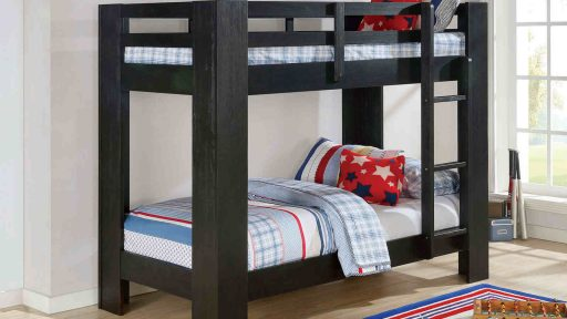 espresso twin over twin bunk bed with storage- kidsroom.vip