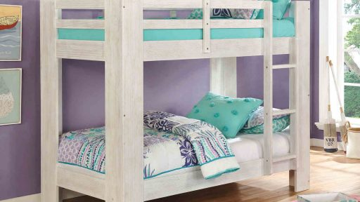 white twin over twin bunk bed with storage- kidsroom.vip