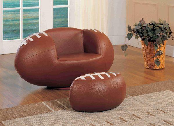 Football All Star Chair Set and Ottoman - kidsroom.vip