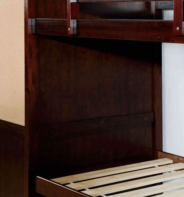 boolcase bunk bed with note board-storage-drawers - kidsroom.vip