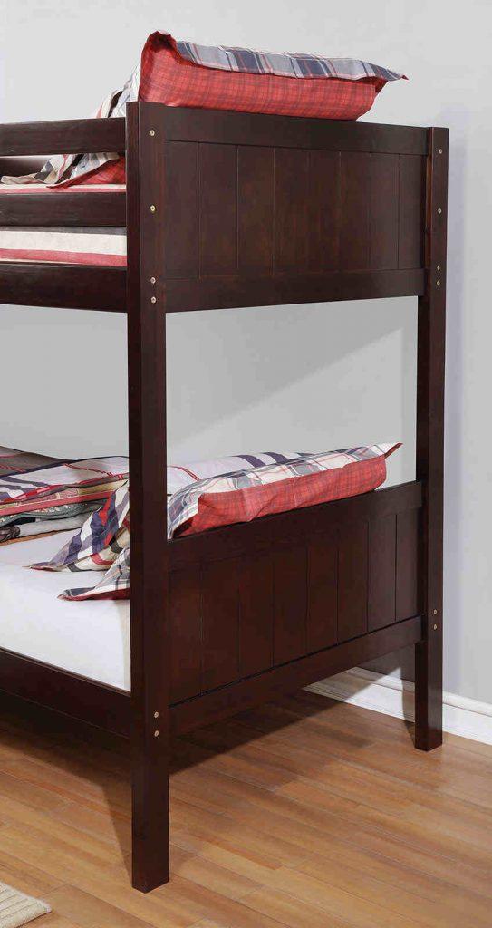 luck samrock brown twin over twin bun bed with storage- kidsroom.vip