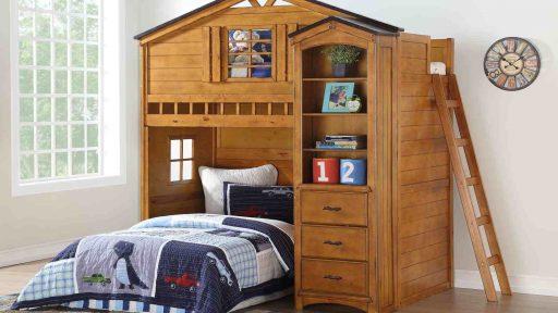 TREEHOUSE TWIN LOFT BED-KIDSROOM.VIP