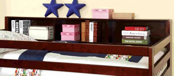 twin over twin bed with bookcase storage- kidsroom.vip