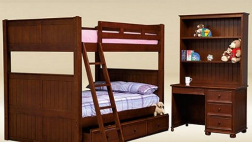 """Angel Phoenix"" Full over Full Bunk Bed with Storage – 5 Colors"