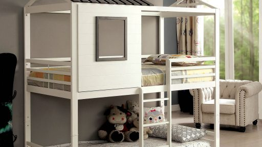 """Dala Horse"" Swedish Twin over Twin House Bunk Bed"