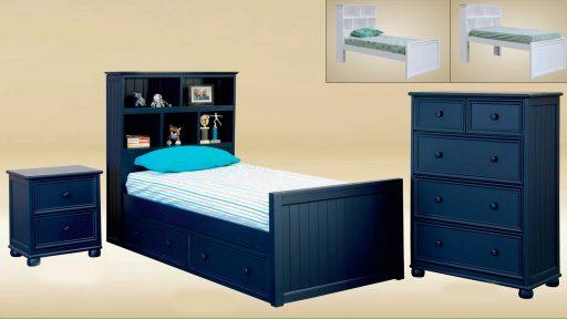 """""""Captain MacKenzie""""  Twin XL Captains Bed – 4 Colors"""